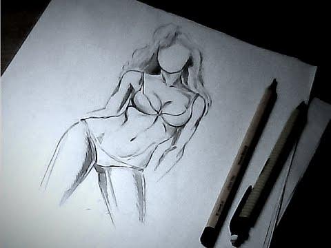 Как Нарисовать Голую Женщину