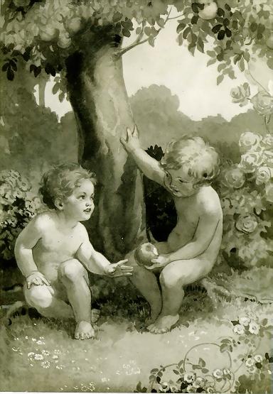Голый Мальчик И Девочка Ретро