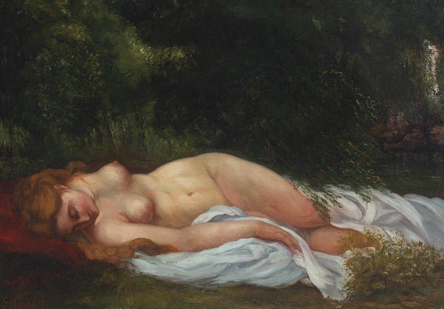 Голая Женщина Спит