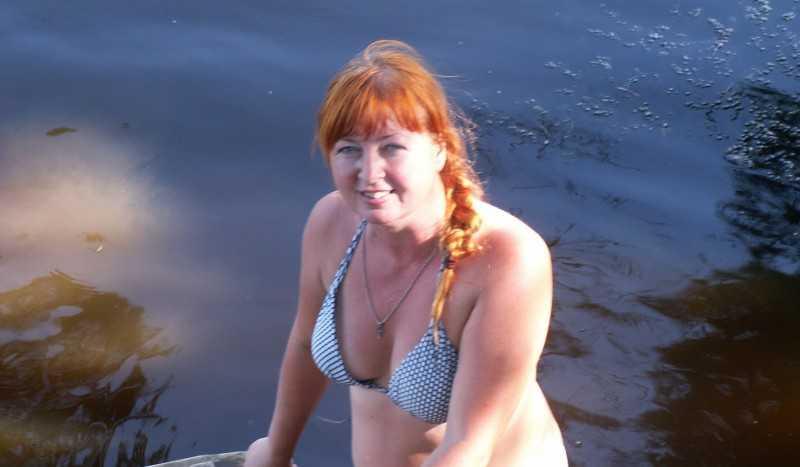 Голые Зрелые На Речке